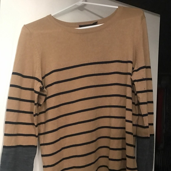 The Limited Sweaters - The Limited Sweater Camel Stripe Sweater